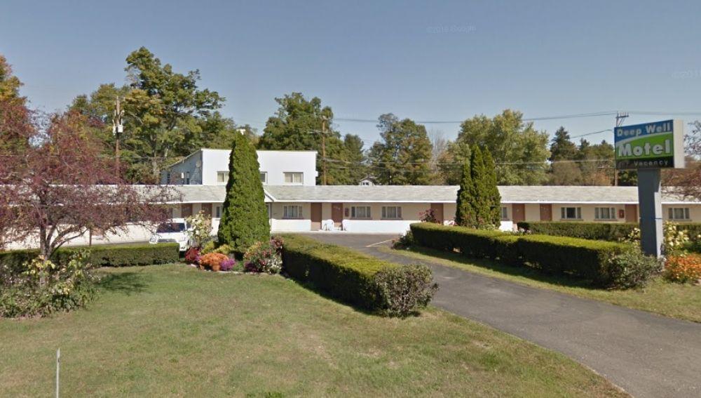 El motel donde estaba alojada la familia
