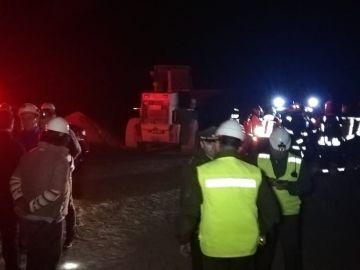Equipo de rescate en la mina Directorio 8, Chile