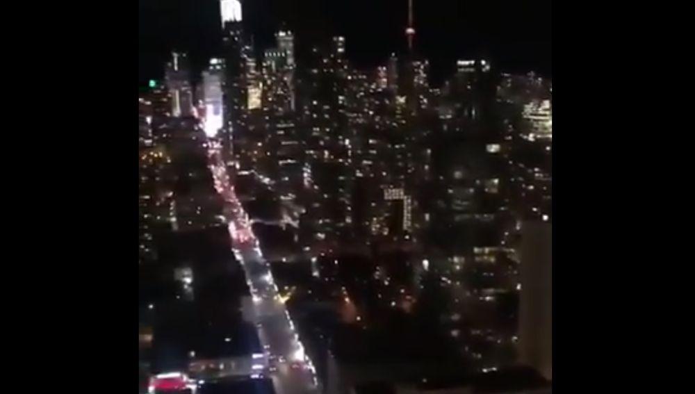 La ciudad de Toronto tras ganar la NBA