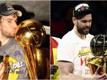 Los Gasol, hermanos campeones de la NBA