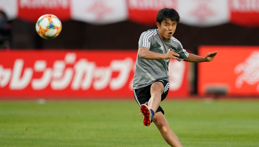 Takefusa Kubo con el Tokyo F.C.