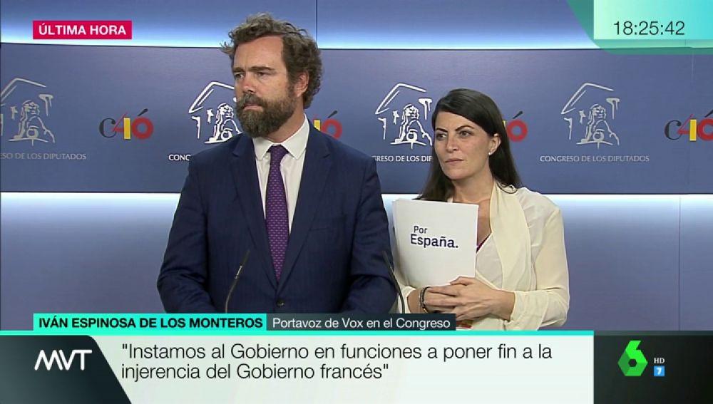 """Vox pide al Gobierno que ponga fin a """"la injerencia francesa"""" en los pactos tras las críticas de Macron"""