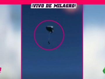 """¡Se murió!"": brutal accidente de un paracaidista en Perú"