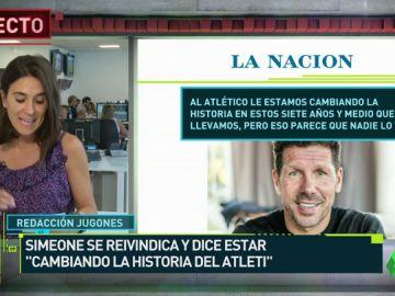 """Simeone saca pecho y """"historia"""""""