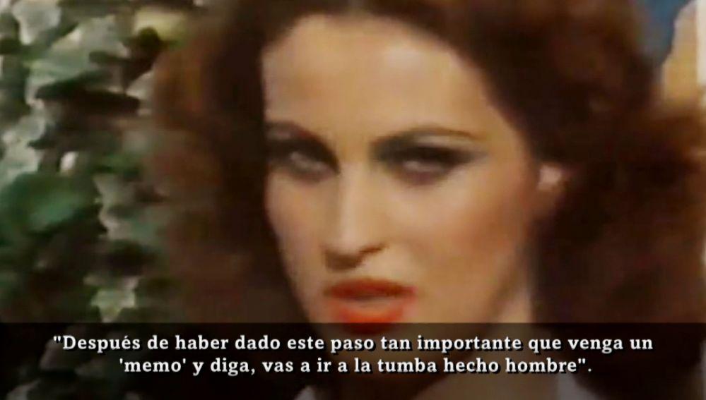 Carla Antonelli durante un reportaje en 1980