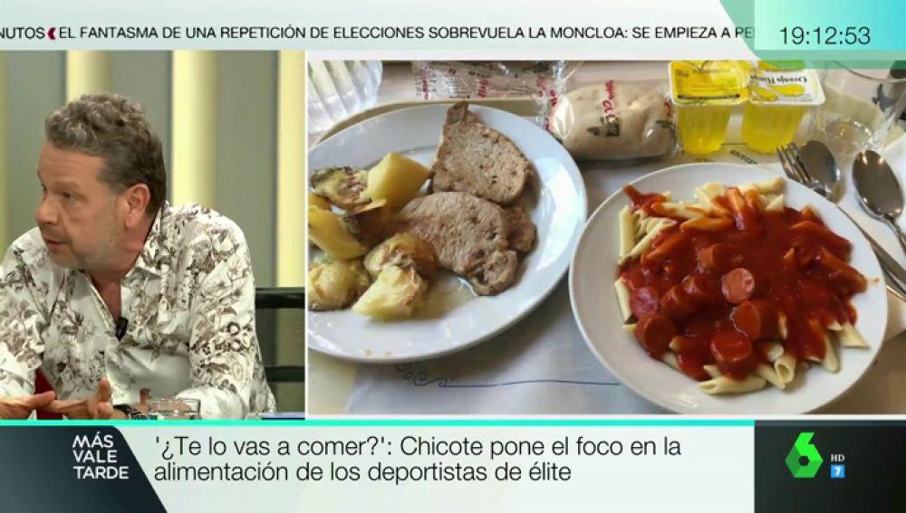 """Chicote descubre cuál es el menú de algunos deportistas de élite: """"todos los días hay patatas y pasta"""", incluso para desayunar"""