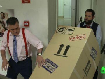 """Los percances del viaje en caja 'frágil' de Gonzo dirección Salvados: """"Me cachis, no somos nadie"""""""