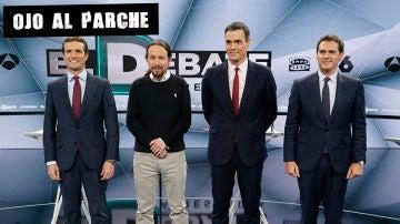 Los líderes de PP, Unidas Podemos, PSOE y Cs en el Debate de Atresmedia