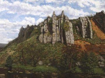 El cuadro 'Paisaje' de Agustín Riancho del s. XIX