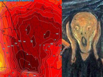 Mapa de calor en Francia comparado con 'El Grito'