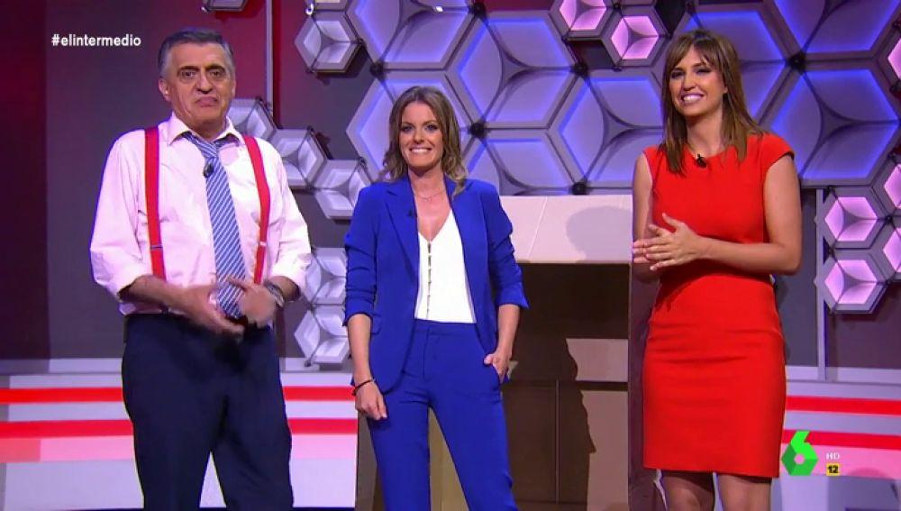 """La irrupción de Andrea Ropero en el plató de El Intermedio: """"Estás mejor por televisión, pero cuando está apagada"""""""