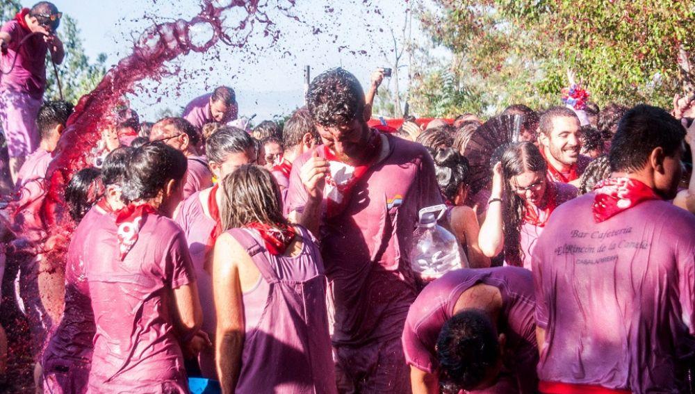 La fiesta del vino en La Rioja