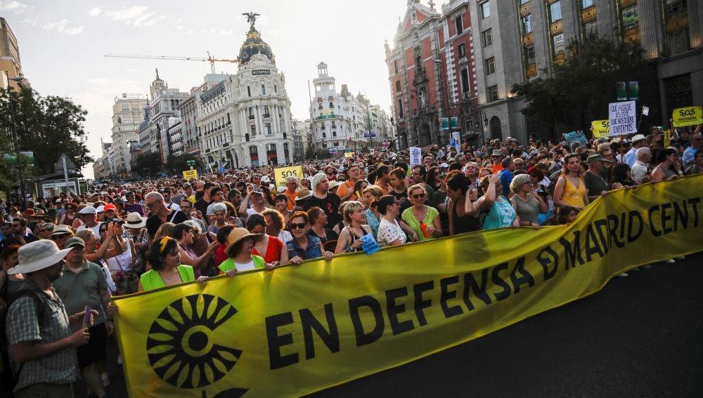 Manifestación en defensa de Madrid Central