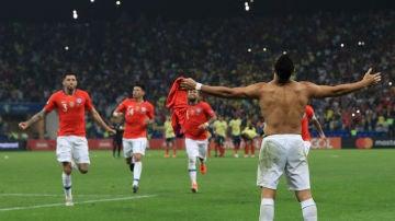 Chile celebra su pase a semifinales