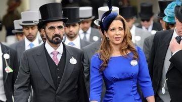 El emir de Dubái y su mujer Haya de Jordania