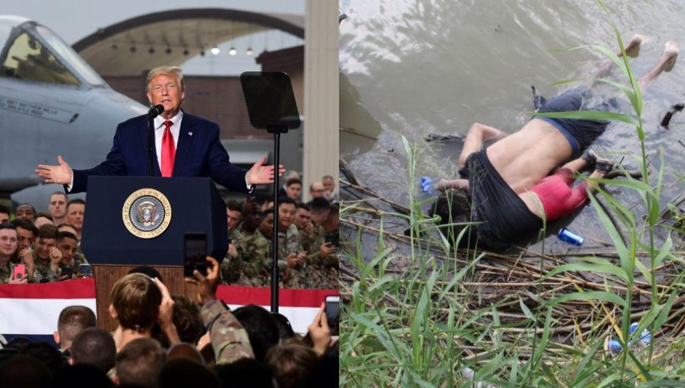 Imagen de Trump y de Valeria y Óscar