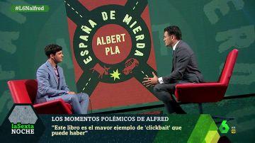 Alfred García en el plató de laSexta Noche