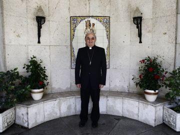El nuncio Renzo Fratini durante un momento de la entrevista a Europa Press
