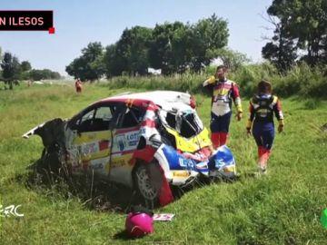 """"""""""": Efrén Llarena relata cómo fue su grave accidente en el rally de Polonia"""