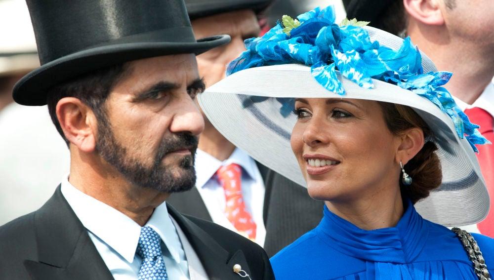 Émir de Dubái y la princesa Haya