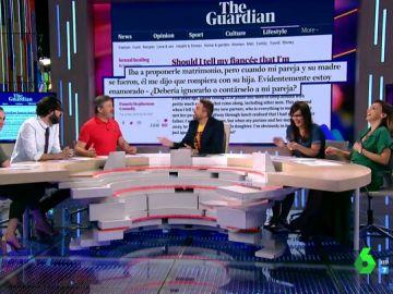 ¿Hay que ser totalmente sincero con tu pareja?: así es el debate más divertido (y surrealista) de Zapeando