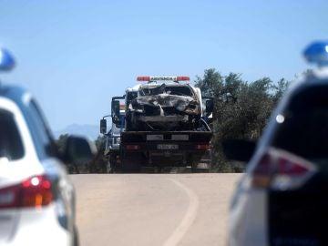 Imagen del coche de José Antonio Reyes después del accidente