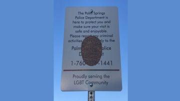 Cartel a la entrada de Arenas Road