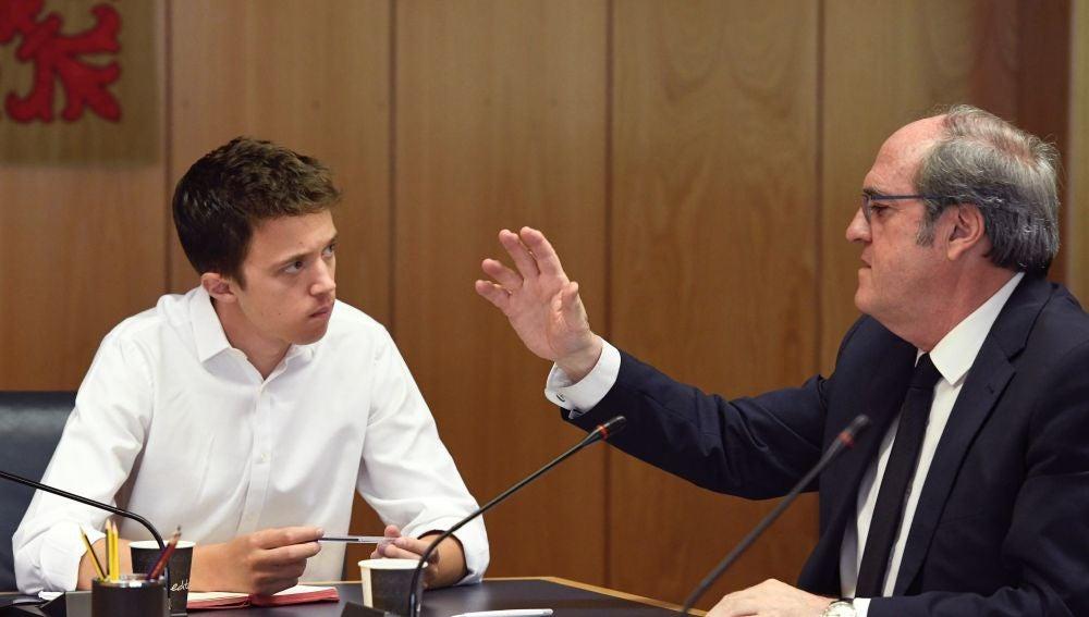 Los candidatos autonómicos de Más Madrid y el PSOE, Íñigo Errejón y Ángel Gabilondo