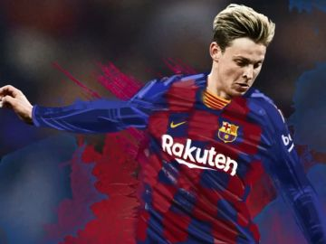 Frenkie De Jong, con la camiseta del Barcelona