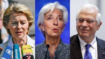 Von der Leyen, Lagarde y Borrell en lo más alto de las euroinstituciones