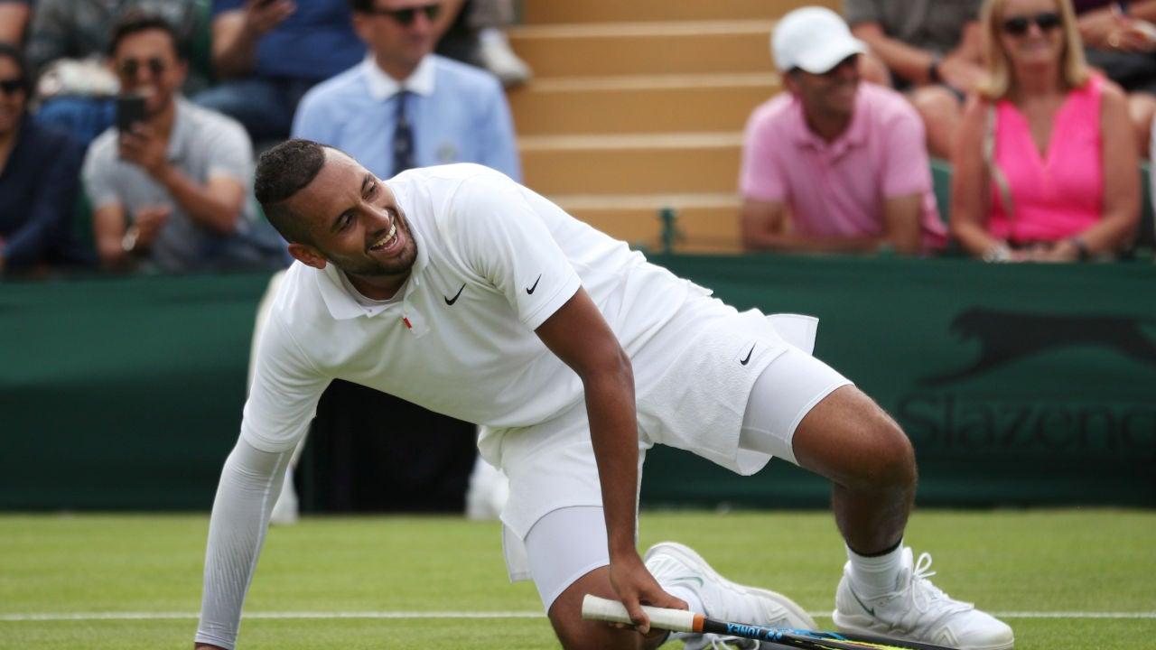 Kyrgios, durante su debut en Wimbledon