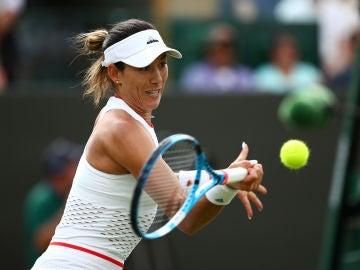 Muguruza, durante su partido contra Beatriz Haddad Maia