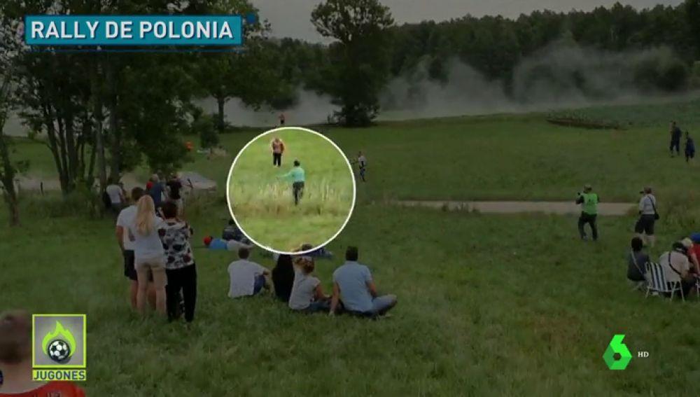 Jugones (02-07-19) Un coche casi atropella a un granjero en el rally de Polonia