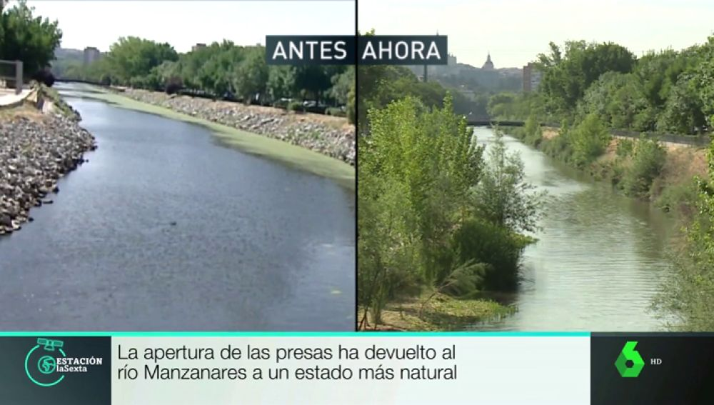 El aspecto del río Manzanares, antes y ahora