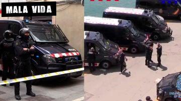 Imágenes de la macrooperación contra el narcotráfico en Barcelona