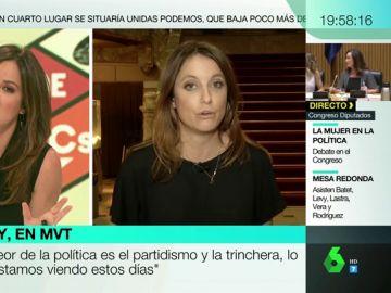"""Andrea Levy: """"Los socialistas nos van a tener a su lado para grandes leyes nacionales, pero no para la investidura"""""""