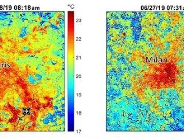 Los efectos de la ola de calor en París y Milán