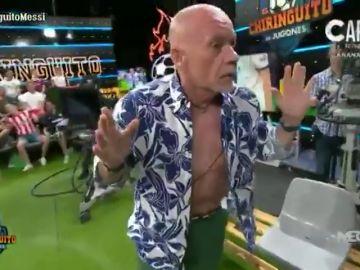 La última de Alfredo Duro: ¡se quita la camisa en 'El Chiringuito'!