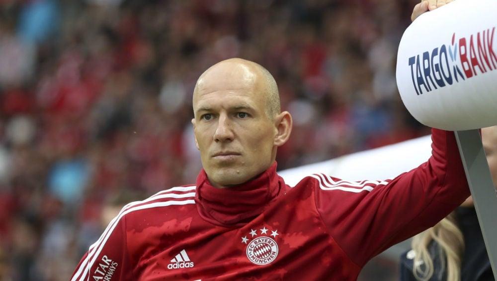 Arjen Robben, con el Bayern de Múnich