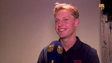 """Frenkie De Jong ya está en Barcelona: """"De niño siempre soñé con jugar con el Barça"""""""