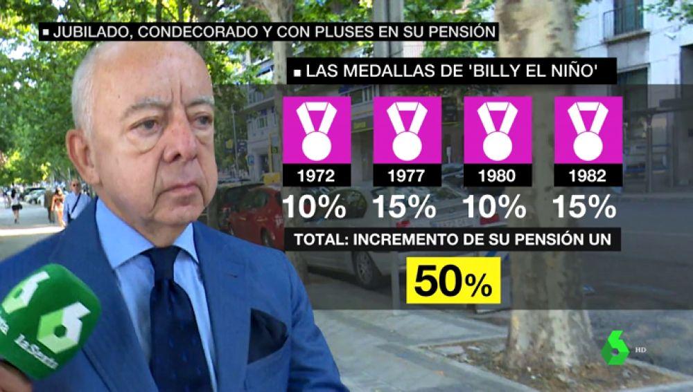 Billy el Niño, impune y honorado: gana un 50% más de pensión gracias a todas sus condecoraciones