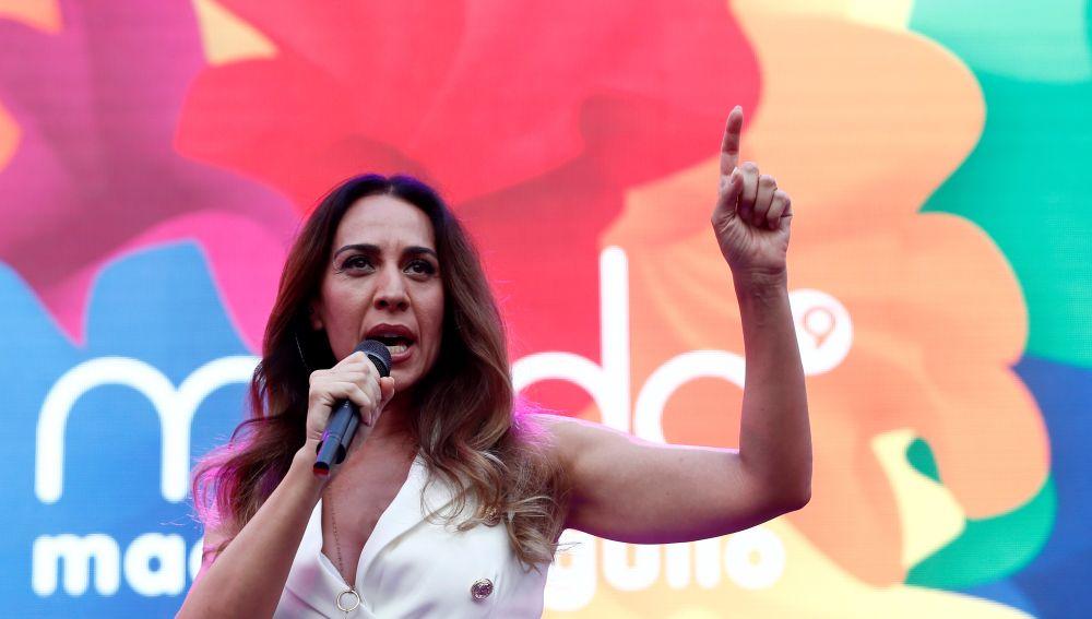 Mónica Naranajo en el pregón del Orgullo LGTBI