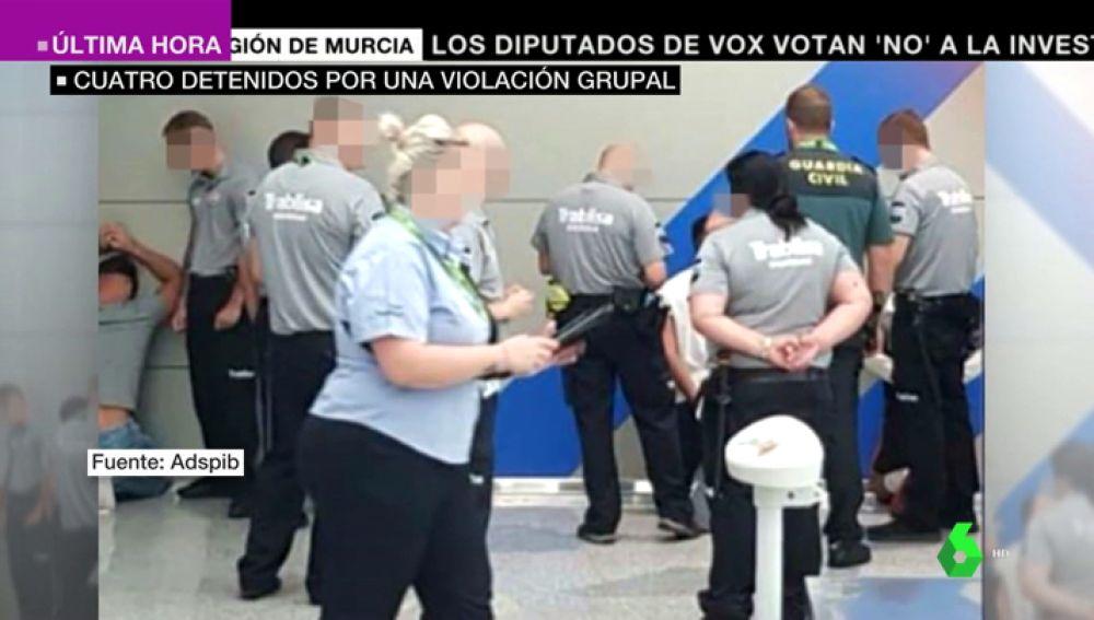 Detienen a tres alemanes en el aeropuerto de Palma por violar en grupo a una joven de 18 años
