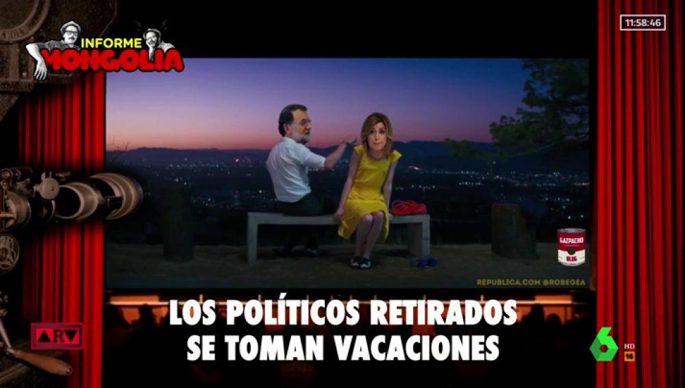 Rajoy y Susana Díaz, juntos y de vacaciones a lo 'La la land'