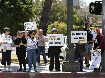 Imagen de archivo de una protesta contra la política migratoria de Trump