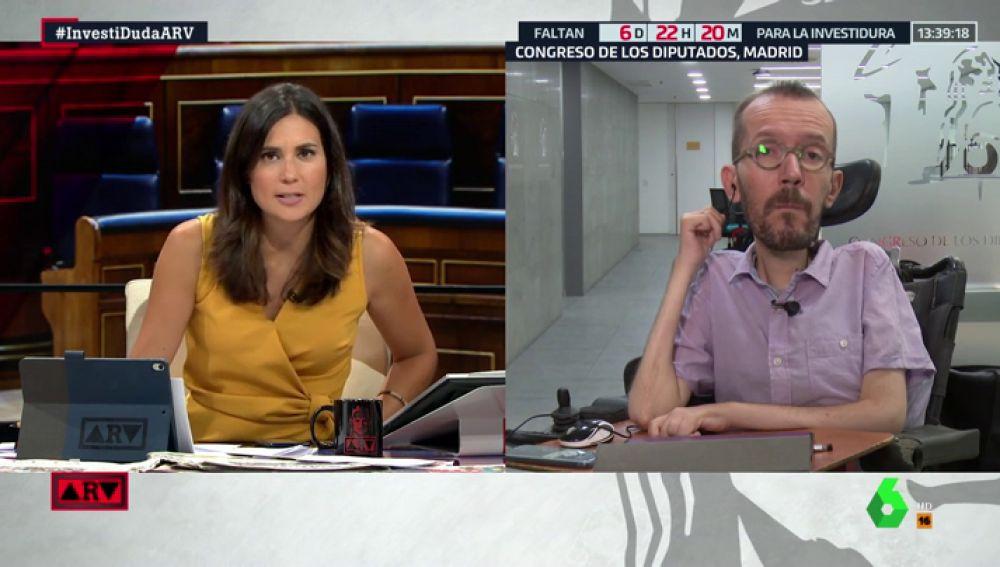 """Echenique responde a Pedro Sánchez: """"Estamos sorprendidos por el tono duro que ha utilizado y por las descalificaciones"""""""