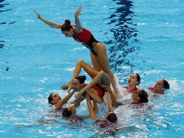 El equipo de natación de España