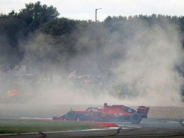 Vettel, tras su accidente con Verstappen