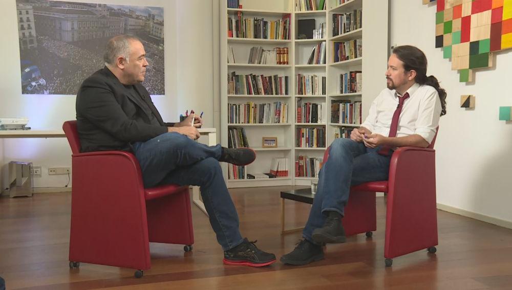 Entrevista de Antonio García Ferreras a Pablo Iglesias