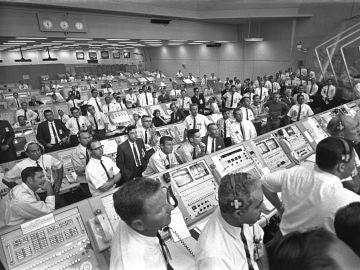 Centro de Control de Lanzamiento del Apolo 11, Centro Espacial Kennedy, 1969.